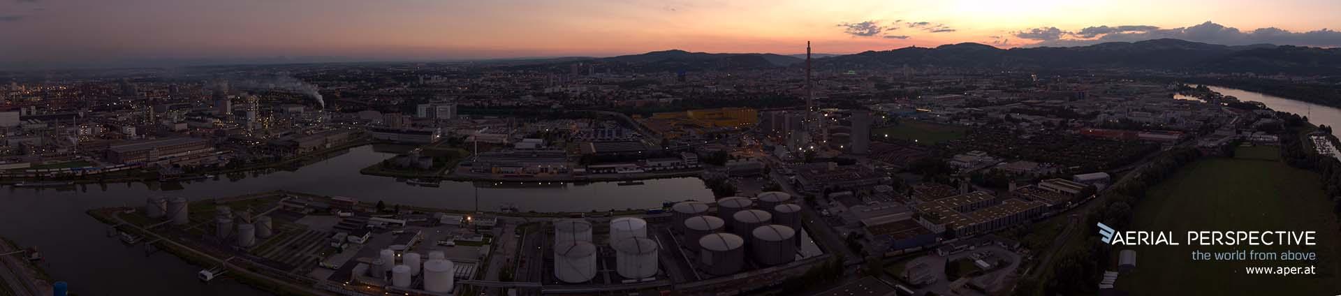 Tankhafen Linz Panorama