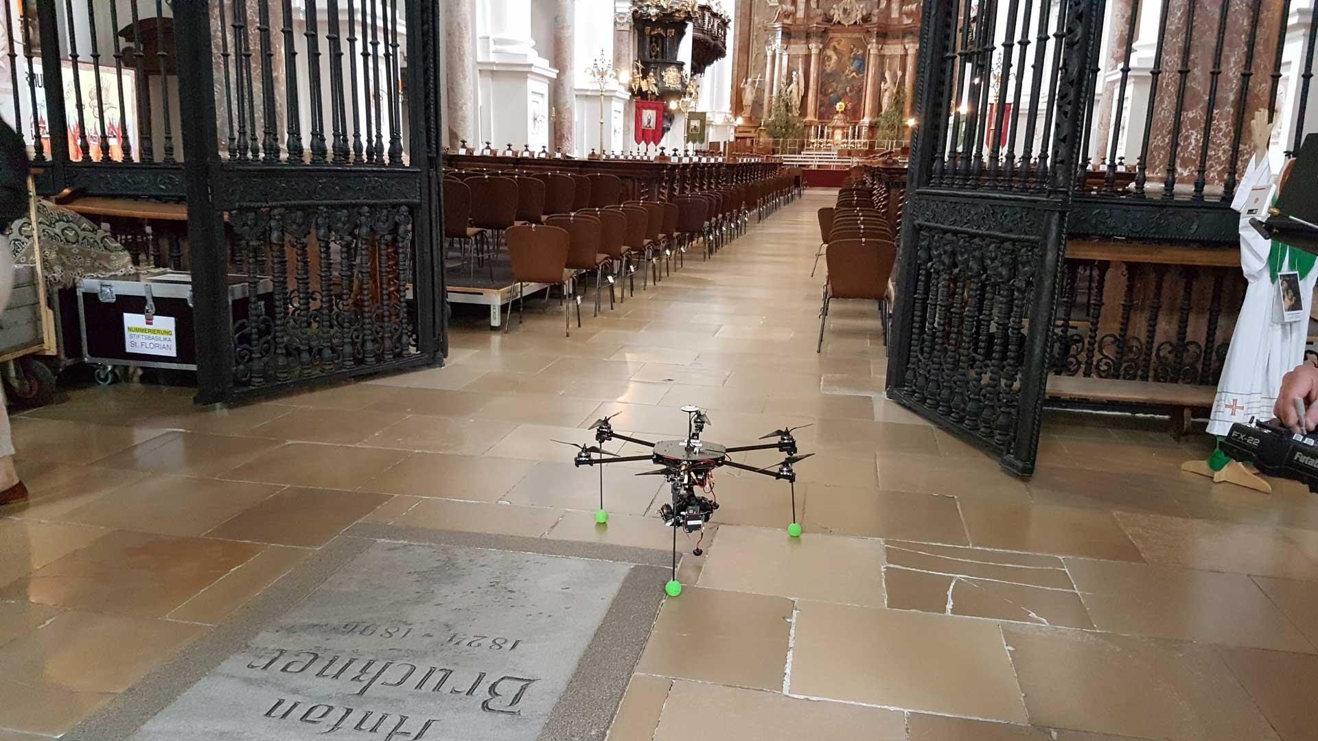 Drohne im Stift Sankt Florian
