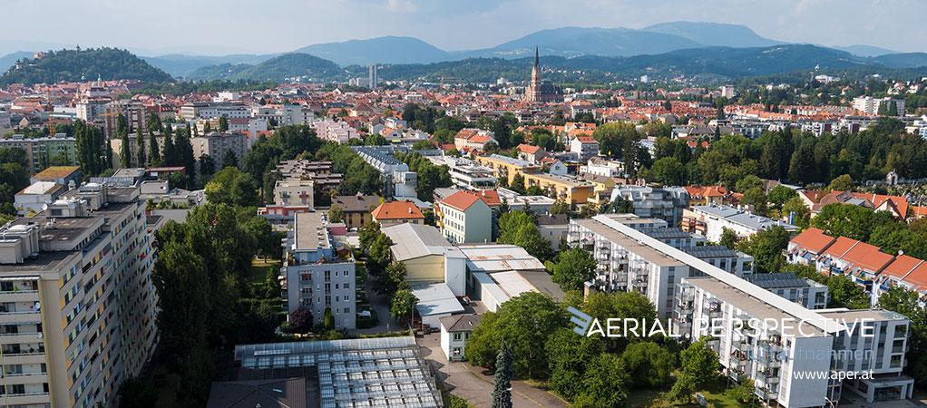 Luftaufnahmen in Graz