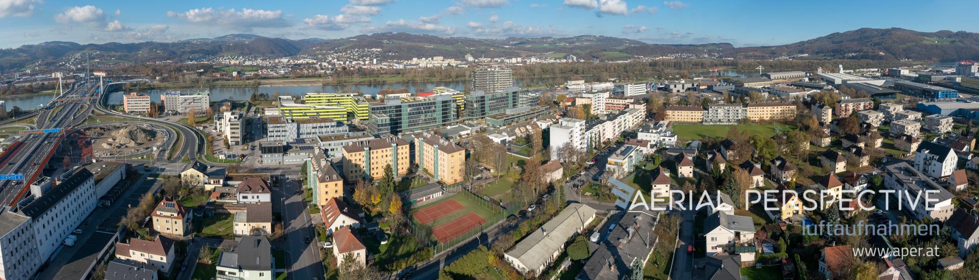 Panorama Linz Richtung Urfahr